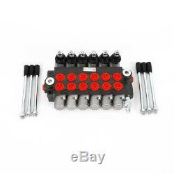 6Spool Hydraulic Directional Control Valve 11GPM 40l/min Monoblock MotorsNew