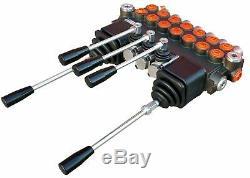 7 BANK 2 Joysticks Monoblock Hydraulic Directional Control Valve 11gpm 40L DA
