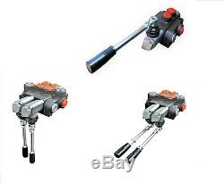 7 Spool Hydraulic Directional Control Valve 11gpm, Double Acting Cylinder 40 L
