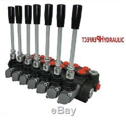 7 Spool Hydraulic Directional Control Valve 11gpm, Double Acting Cylinder 40L