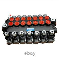 7 Spool Hydraulic Directional Control Valve 13gpm Double Acting Tractors Loaders