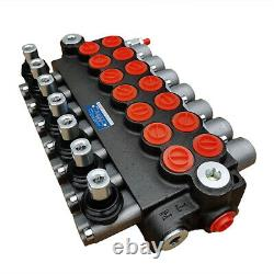 7 Spool Hydraulic Directional Control Valve 13gpm Relief valve Adjustable