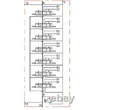 7 Spool Hydraulic Directional Control Valve 2x JOYSTICK 11gpm 40L 7x DA