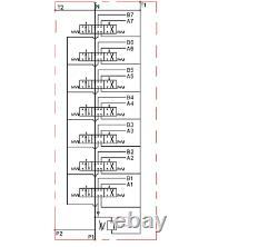 7 Spool Hydraulic Directional Control Valve 2x JOYSTICK 11gpm 40L 7x Double 7xDA