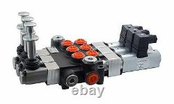 7 spool hydraulic solenoid directional control valve 13gpm 12VDC + hand control