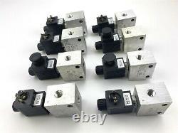 (8) Sun Hydraulics 760-224 DBAA MCM Solenoid valve 3-Way Directional Spool Valve