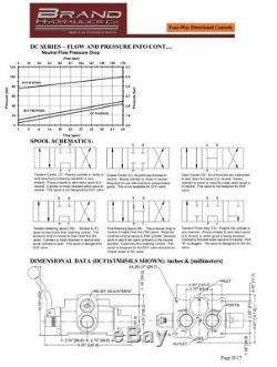 Brand Hydraulics DCF16M454LF1, 4-Way Directional Control Valve, 3000psi 45gpm