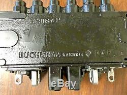 Bucher Hydraulics 6 Spool 45 LPM Monobloc Directional Control Valve HDM11S/6 P