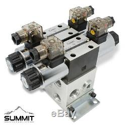Electronic Hydraulic Double Acting Directional Control Valve, 2 Spool, 15 GPM