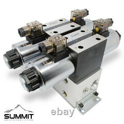Electronic Hydraulic Double Acting Directional Control Valve, 2 Spool, 25 GPM