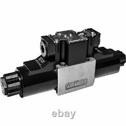 GRH Nickel-Plated Hydraulic Directional Control Valve 16.5 GPM 4560 PSI 2-Pos