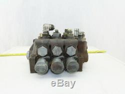 Gresen Parker 8072 REV E Hydraulic Directional Control 3 Section Spool Valve