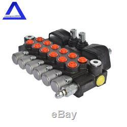 Hydraulic Backhoe Directional Control Valve with 2 Joysticks, 6 Spool, 11 GPM