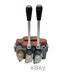 Hydraulic Directional Control Valve 25gpm 2 Spool Max. 3000PSI Manual Operation