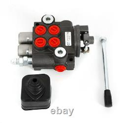 Hydraulic Directional Control Valve Fit Tractor Loader, 2 Spool, 11 GPM New