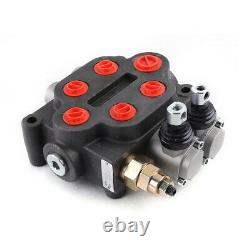 Hydraulic Directional Control Valve Tractor Loader 2 Spool 25GPM 3000PSI 90L/min