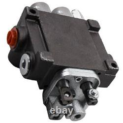 Hydraulic Directional Control Valve Tractor Loader + Joystick 2 Spool 11 GPM