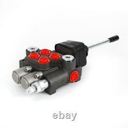 Hydraulic Directional Control Valve Tractor Loader+Joystick 2 Spool 11GPM 250bar