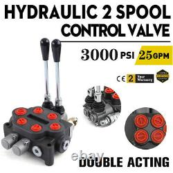 Hydraulic Directional Control Valve Tractor Loader with Joystick, 2 Spool, 25GPM