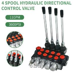 Hydraulic Directional Control Valve Tractor Loader with Joystick, 4 Spool, 40L