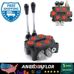 Hydraulic Directional Control Valve Tractor Loader withJoystick 2 Spool 25GPM USA