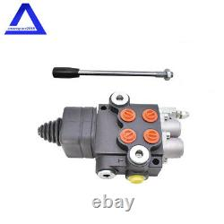 Hydraulic Directional Control Valve for Tractor Loader with Joystick 2Spool 21GPM