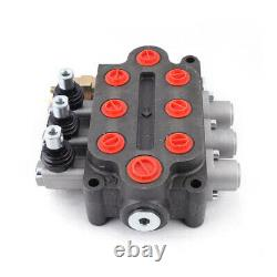 Hydraulic Monoblock Directional Control Valve 3Spool 25GPM 3000PSI Double Acting