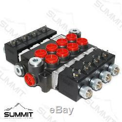 Hydraulic Monoblock Directional Solenoid Control Valve 4 Spool, 13 GPM with Switch