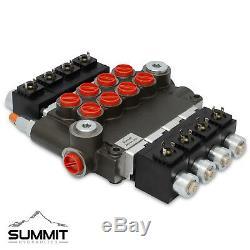 Hydraulic Monoblock Solenoid Directional Control Valve, 4 Spool, 21 GPM, 12V DC