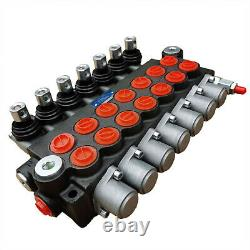 Manual Operate 7Spool P40 Hydraulic Directional Control Valve 13gpm Adjustable