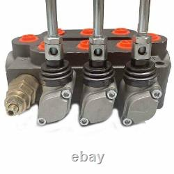 Monoblock Hydraulic Directional Control Valve, 3 Spool, 25 GPM, 3000 PSI US
