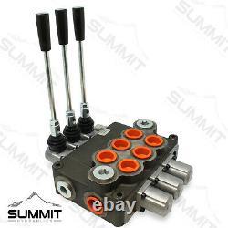 Monoblock Hydraulic Directional Control Valve, 3 Spool, 31 GPM