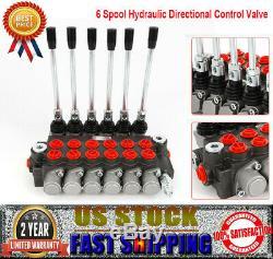 Monoblock Hydraulic Directional Control Valve with 6 Joysticks, 6 Spool, 11 GPM