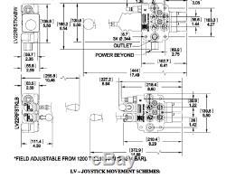 NEW Brand Hydraulic Loader Directional Control Valve LV22RFSTKAB Joystick Regen