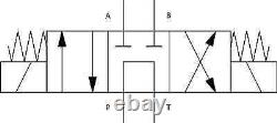 NG10 Cetop 5 Direction Control Valve 3 Position P-T A&B Blocked