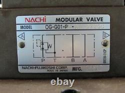 Nachi SL-G01-EX3-R-D-30 Solenoid Directional Control 2 Valve Manifold Assembly