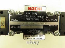 Nachi SS-G01-C6-FR-E2-20 Hydraulic Directional Control Solenoid Valve 200VAC D03