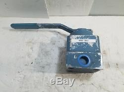 New PARKER Hydraulic Block Body Manual 4-Way 1 Directional Valve R8041F-1HS2