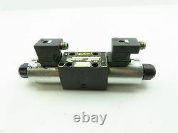 Parker D1VW001CNJP5 Hydraulic Directional Control Double Solenoid Valve 24VDC