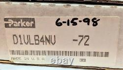 Parker D1vlb4nv 72 Hydraulic Lever Operated Directional Control Valve