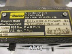 Parker DG1VW001C4NJG3W Hydraulic Directional Valve D08 24VDC Closed Center