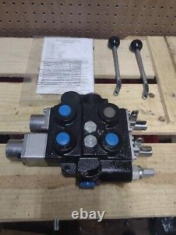 PowerMAX 30 GPM Mono-Block Directional Control Valve, 2 Spool Hydraulic