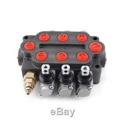 T-L20-3 Monoblock Directional Control Valve 3Spool 25GPM Hydraulic Valve Tractor
