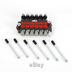 Tractors Loaders Heavy Duty 6 Spool Hydraulic Directional Control Valve Assembly