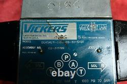 VICKERS SOFT SHIFT HYDRAULIC DIRECTIONAL VALVE DG4S4W-018C-BB-60-S491 last one