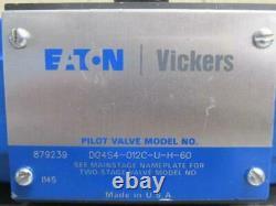 Vickers DG4S4-012C-U-H-60 Hydraulic Solenoid Directional Control Valve 24VDC
