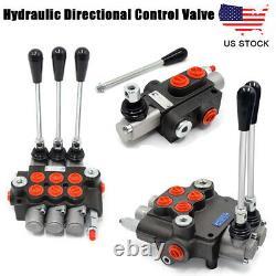 1/2/3 Spool Hydraulique Monobloc Contrôle Directionnel Valve Pression Réglable Us