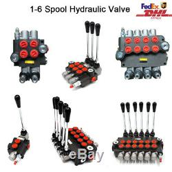 1-6 Spool Hydraulique Monobloc De Commande Directionnelle Valve Joystick 21gpm 11gpm