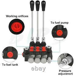 11 Gpm 3 Chargeuse À Pression Réglable De La Soupape De Commande Directionnelle Hydraulique De Bobine