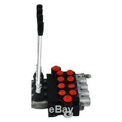 11 Gpm Commande De Direction Hydraulique Tracteur Valve Chargeur Avec Joystick, 4 Spool